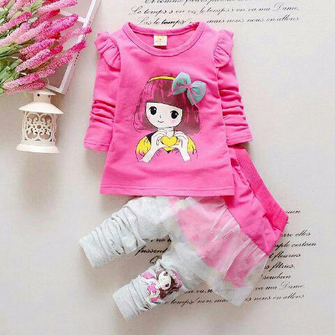 Foto Produk VOS ST KYOKO PINK KID @47 RB, Set.kyoko kid matt spndk kaos komb tile dari Carol R. Duncan Store