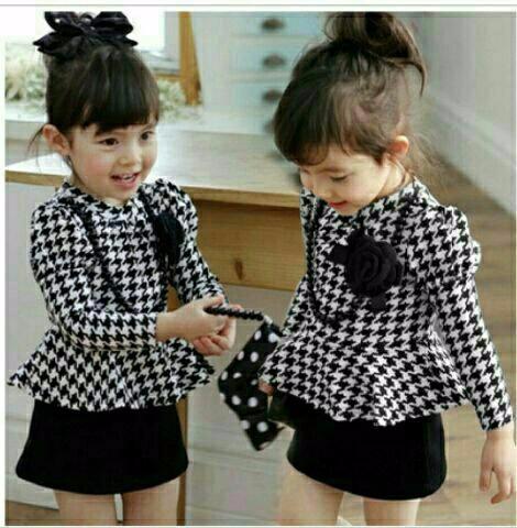 Foto Produk Setelan Baju Anak Peplum Black Kids dari Carol R. Duncan Store