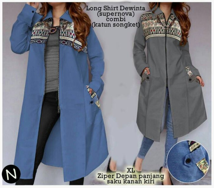 Long shirt dewita   agen baju dropship   supplier fashion wanita d337342bed