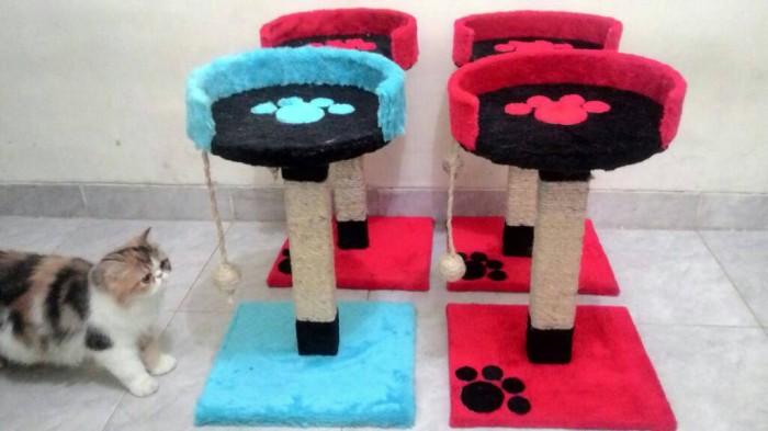 Bola Bulat Warna Double Fang Sisal Mainan Untuk Kucing Mengunyah ... - Fang Bola