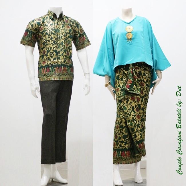 Couple Cassafani Baloteli, Baju batik pasangan, baju muslim,setelan