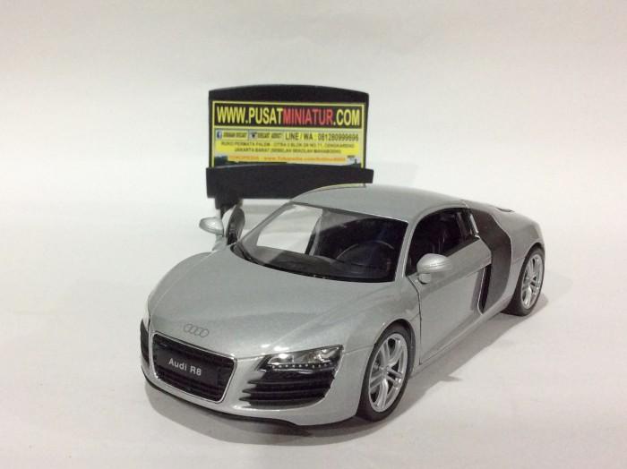 harga Audi r8 v10 (silver) - skala 1:24 - welly (diecast-miniatur) Tokopedia.com