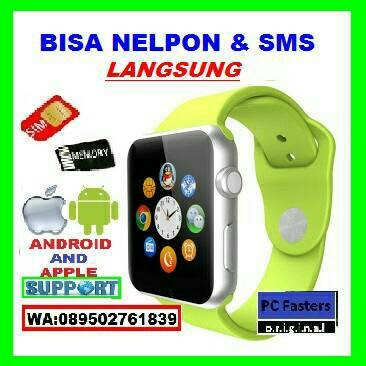 harga Hp handphone jam tangan layar sentuh smartwatch bisa sms dan telpon Tokopedia.com