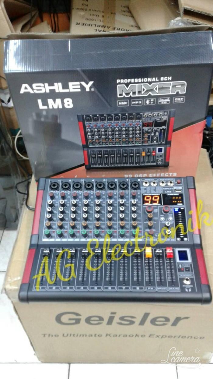 harga Proffesional audio mixer ashley lm-8 bluethoot effeck vocal digital Tokopedia.com