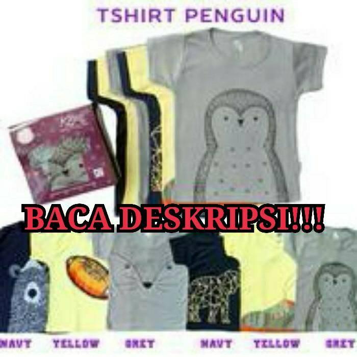 Kazel TShirt Penguin / Pinguin BOY / Baju Kaos Pendek Bayi / Anak Laki