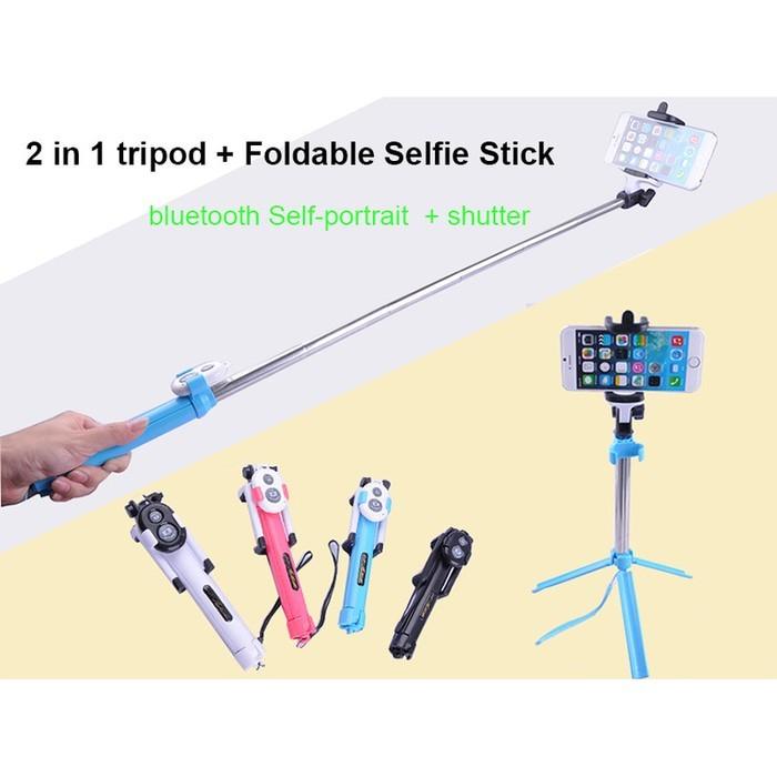 harga Tongsis mini selfie stick wxy-02 with tripod legs & bluetooth Tokopedia.com