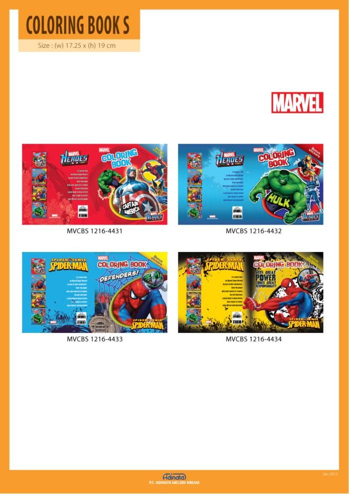Jual New Marvel Coloring Book Small Buku Mewarnai Disney Kecil