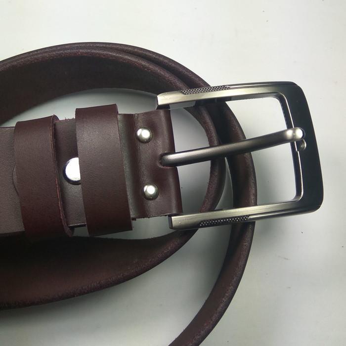 ikat pinggang pria kulit asli warna coklat | gesper | belt |sabuk 002