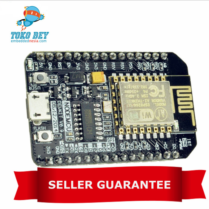 Foto Produk CH340 NodeMcu Lua WIFI Development Board based on ESP8266 ESP-12E dari TOKO BEY