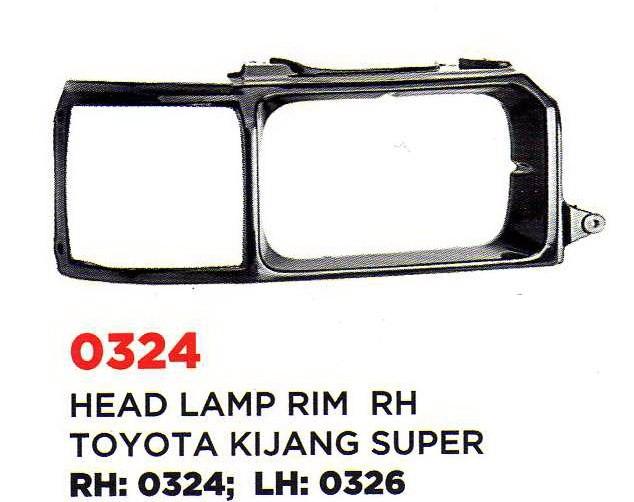 harga 0324/26 head lamp rim/ ring lampu kijang super r/l Tokopedia.com