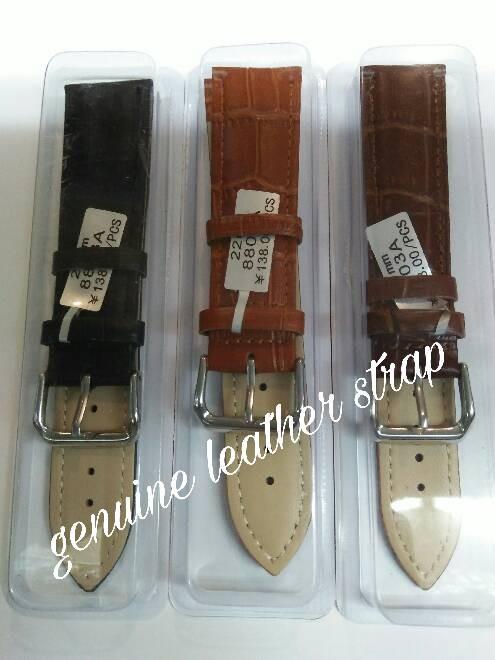 Foto Produk strap jam tangan cewek,cowok//genuine leather strap/tali kulit dari PUTRA  JAYA