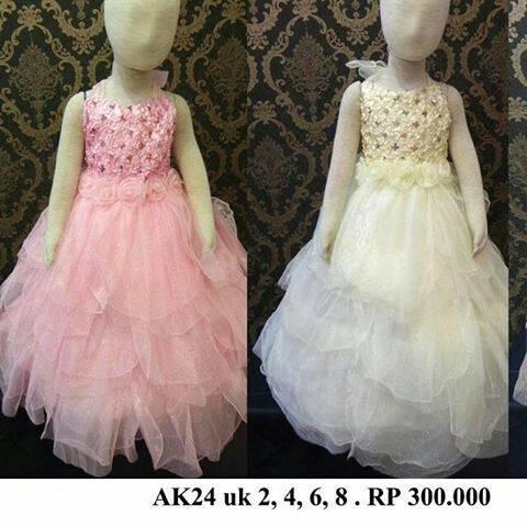 Jual Gaun Pesta Anak Size 2 4 6 8 Tahun Warna Pink Bw Fanta Gaun