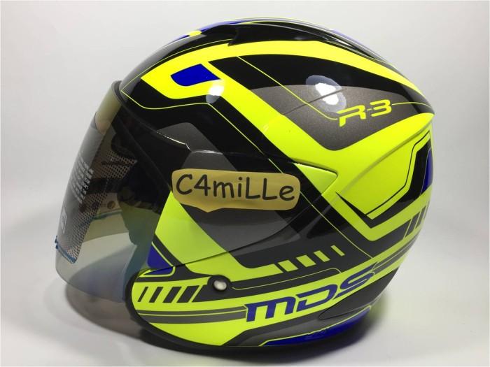 harga Helm Mds R3 Race Fluo Edition Yellow Fluo Blue Half Faceace Tokopedia.com