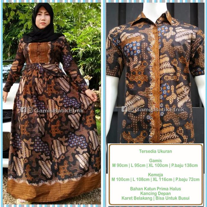 Jual Byanqa Coklat Baju Pasangan Batik Sarimbit Gamis Batik Couple