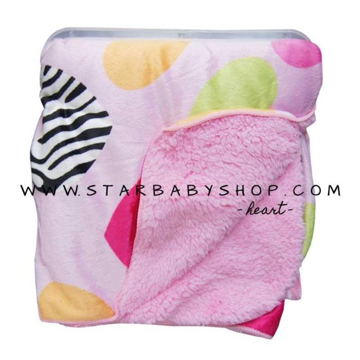 Sale babymix - selimut double fleece carters bayi grils - heart