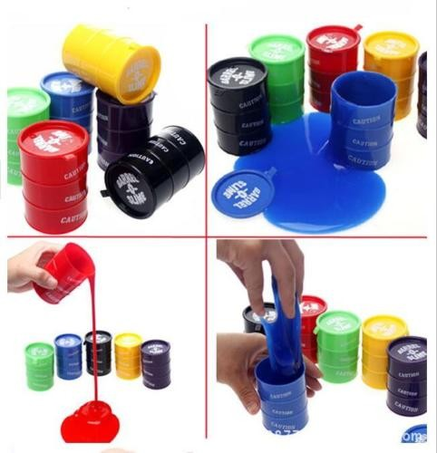 Barrel Slime 1 PCS (RANDOM COLOR) - Multi-Color