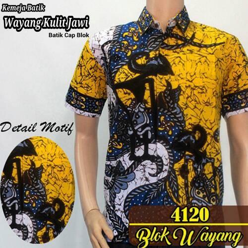 Jual Model Baju Kemeja Batik Modern Pria  Batik Pekalongan Wayang