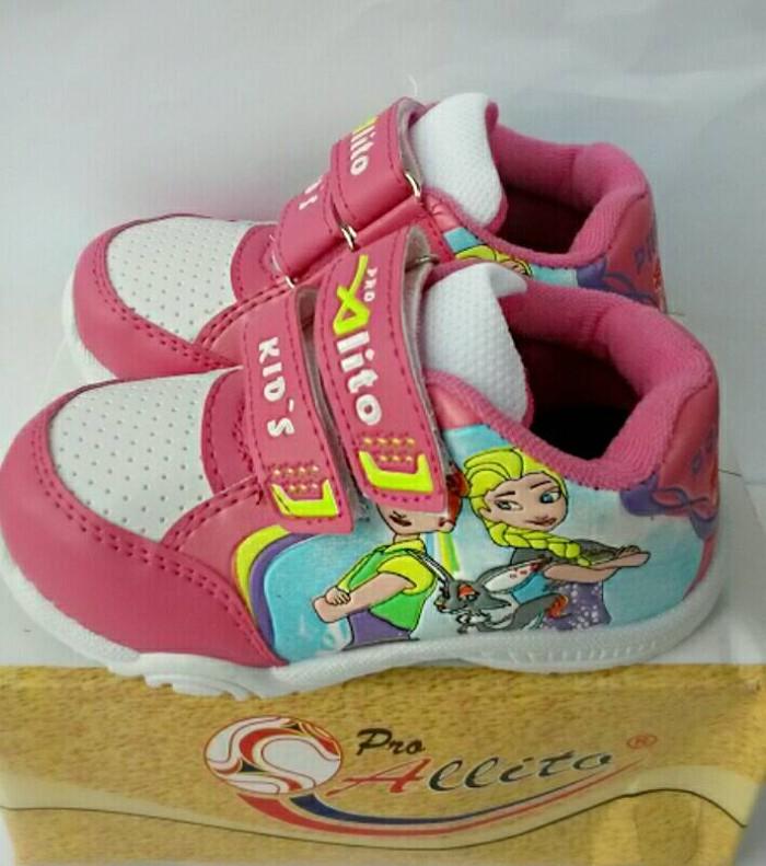 harga Sepatu anak pro allito pink frozen /sepatu sekolah paud tk sd Tokopedia.com