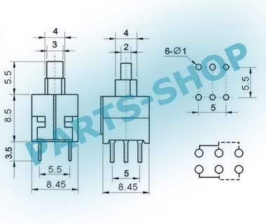 Jual Self-Locking Push Button 6 Pin 8 5x8 5mm Doble Row Latching Switch -  Kota Semarang - parts-shop   Tokopedia