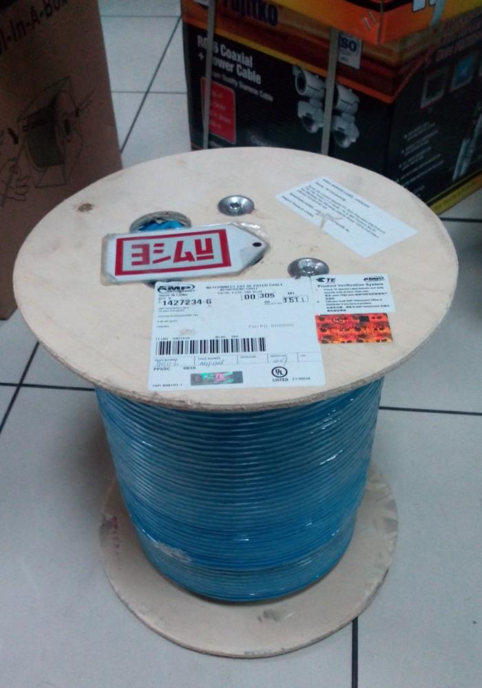 Jual Cable AMP UTP Cat.5E ,24 AWG Stranded ASLI Ready Blue & Red ...