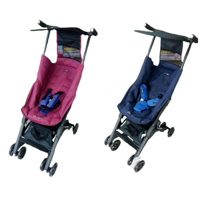 Kereta Stroller Cocolatte 789 Pockit Backpack Blue,purplish Red