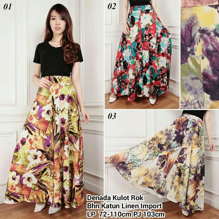 ... Collection Celana Panjang Beryl Kulot Jumbo Batik Wanita. Source. ' Denada kulot rok-flowers pants-kulot motif bunga-harga celana…