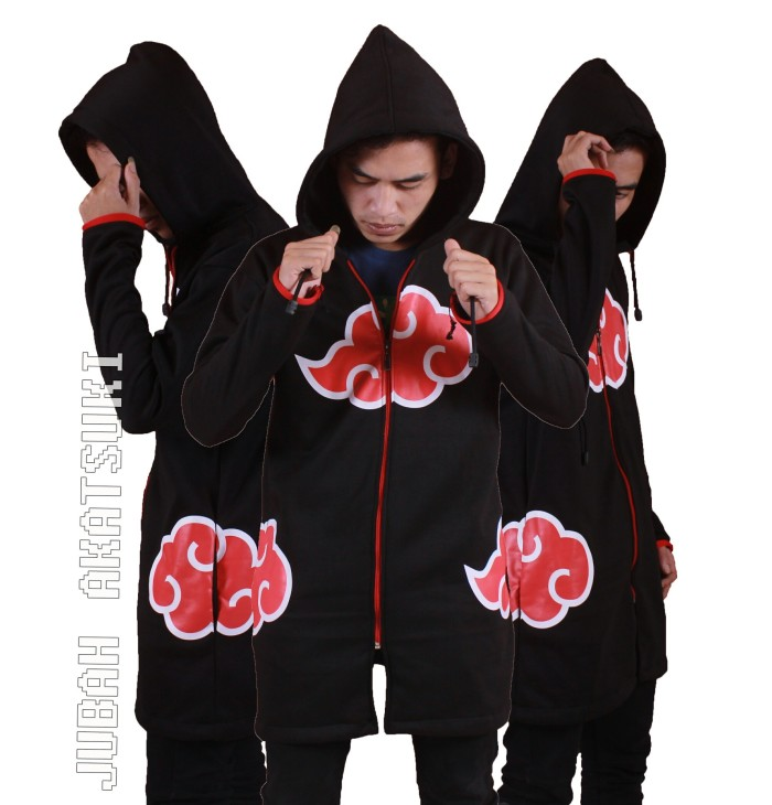 harga Jaket jubah hoodie anime naruto akatsuki clan Tokopedia.com
