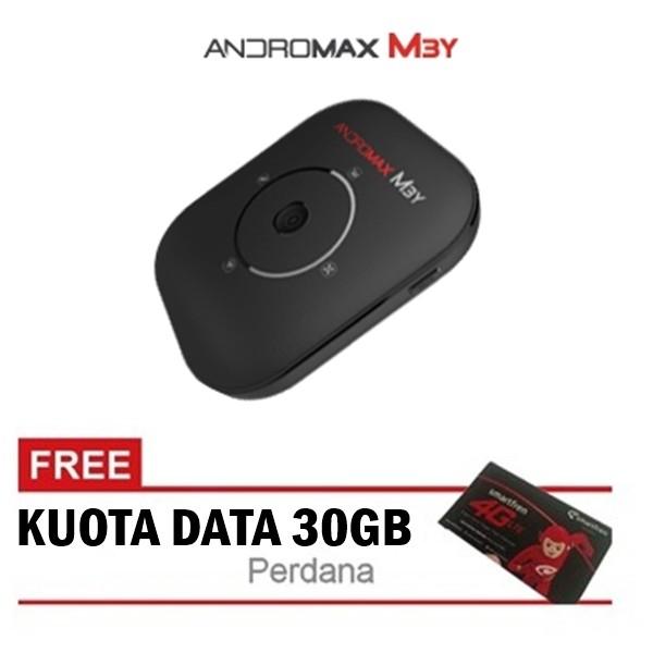 Smartfren Modem Mifi Andromax M3y - Hitam + Kuota 30 GB