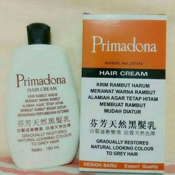 Primadona hair cream rambut putih uban jadi hitam penghitam