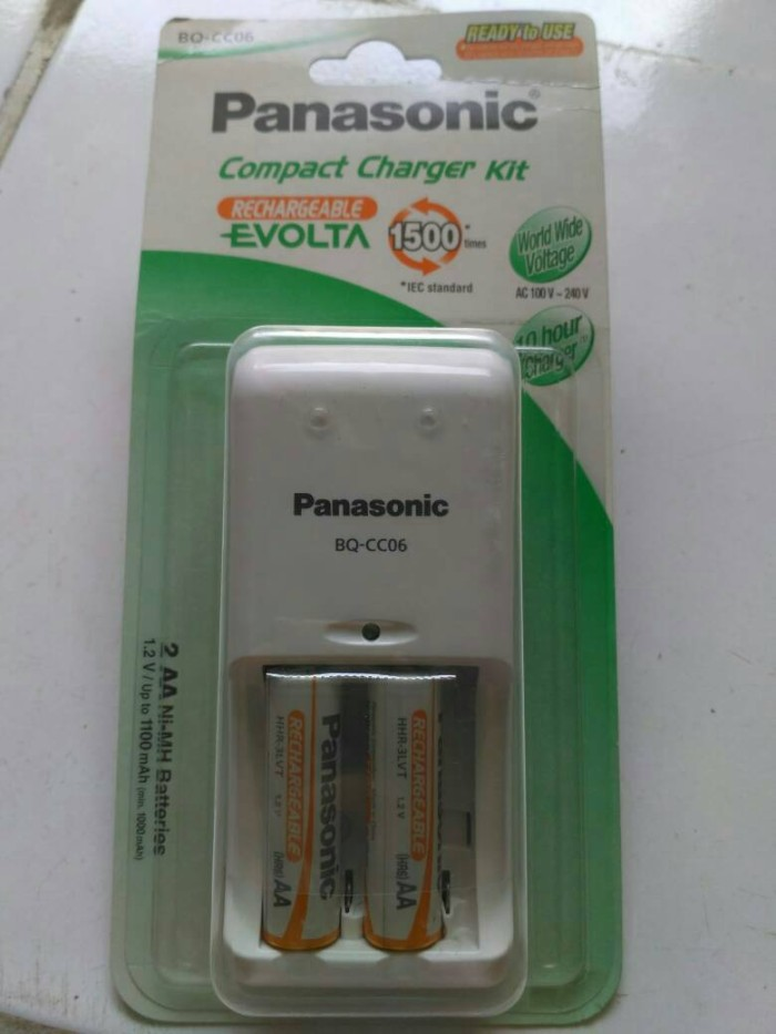harga Charger kit set baterai batre charge aa panasonic rechargeable evolta Tokopedia.com
