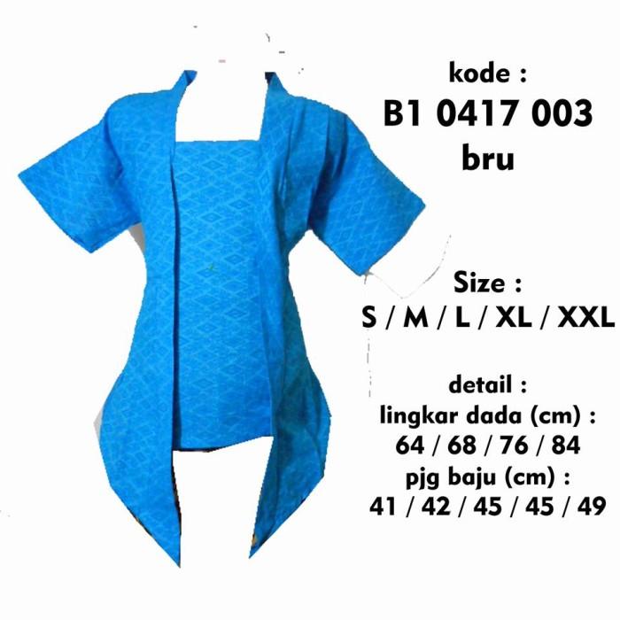 harga Blus kebaya batik embos anak b10417003 / blus kutubaru l xl 5th 9 th Tokopedia.com