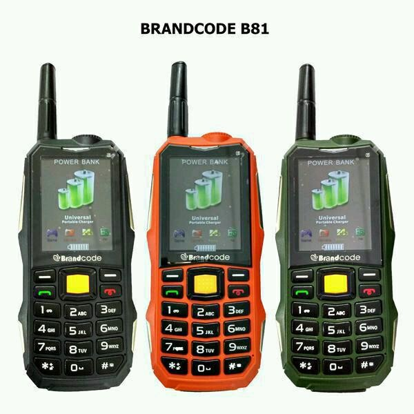 Jual Handphone Hp Brandcode B81 Plus Powerbank 12 000 Mah