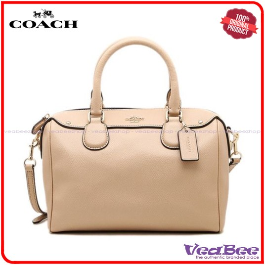 Tas Wanita Coach Original Mini Bennett Beechwood Satchel Leather