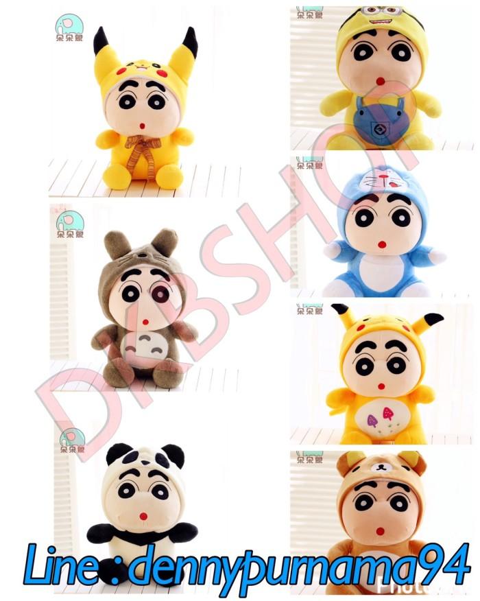 harga Boneka shinchan 45cm boneka pikachu totoro doraemon rilakkuma minion Tokopedia.com