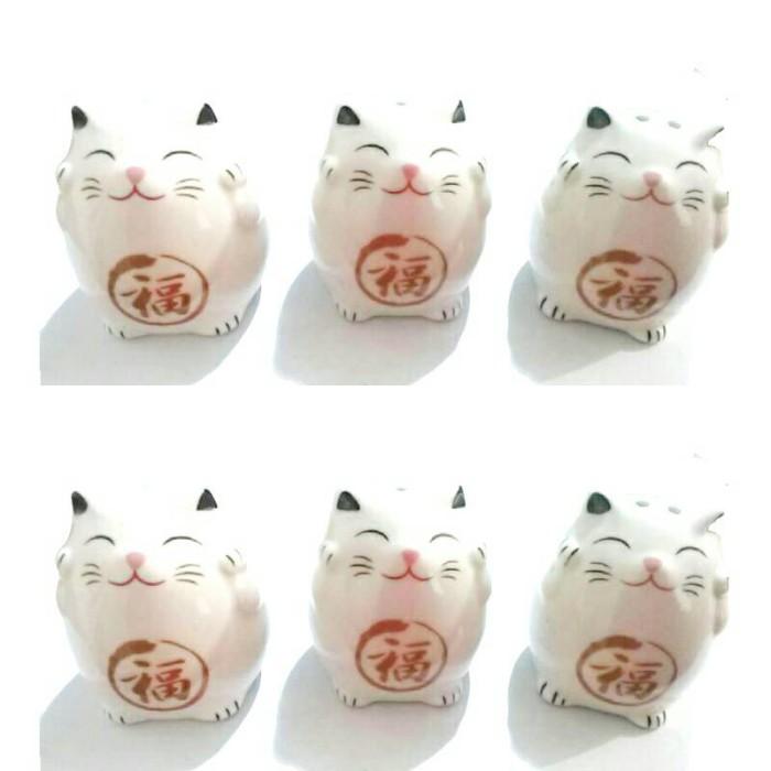 harga Souvenir jepang gelas keramik motif kucing bisa buka tutup pintu Tokopedia.com