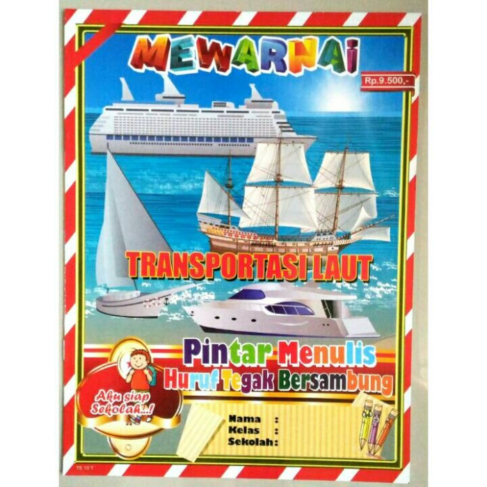 Jual Buku Mewarnai Transportasi Laut Buku Aktifitas Anak Tk Paud