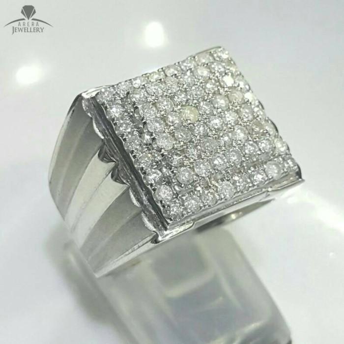 Jual Cincin Pria Dengan Ring Perak Full Berlian Eropa Kab