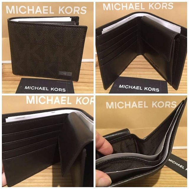 eaea64969376 Jual Michael Kors Jet Set Mens Bifold With Coin Pocket Brown ...