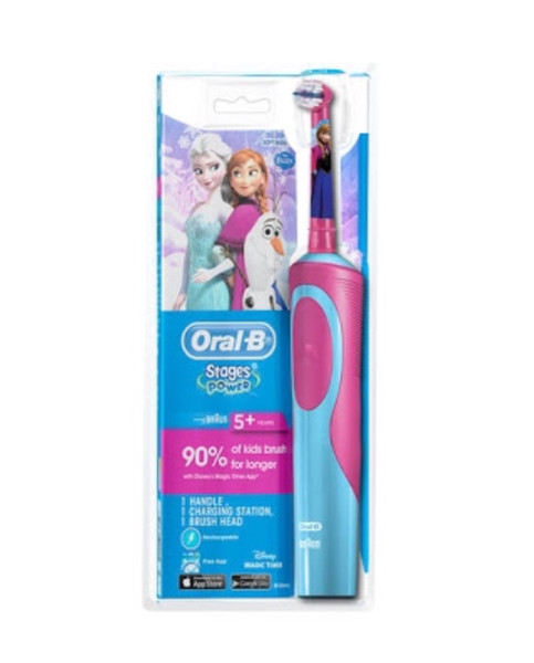 Jual Oral B Stages Power 5+ Frozen   sikat gigi elektrik anak ... 5f1d7c4290