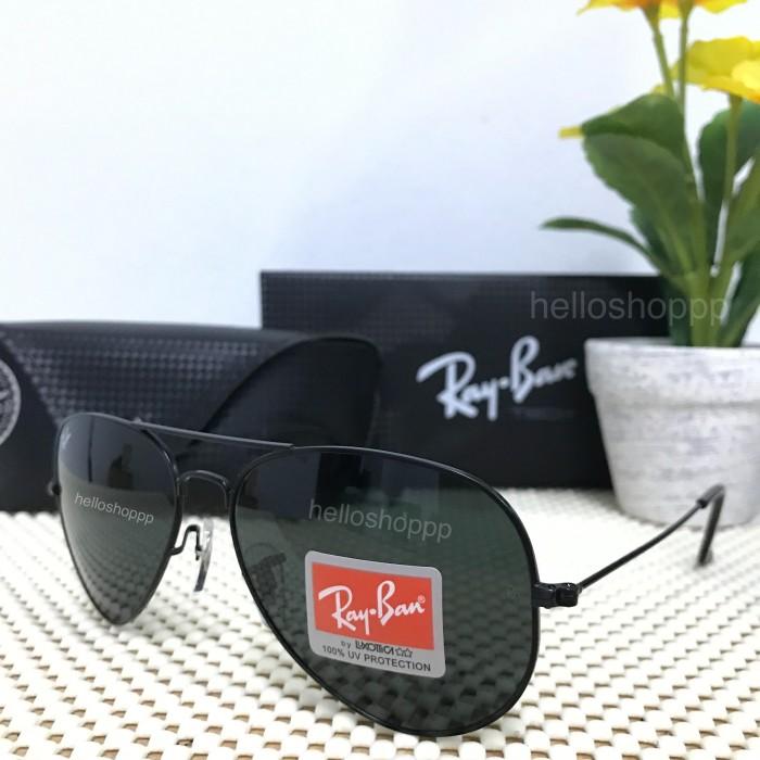 ... discount harga kacamata rayban aviator 3025 full hitam lensa kaca size  58 sunglass tokopedia 6d0ba 27e8b e82b30e34a
