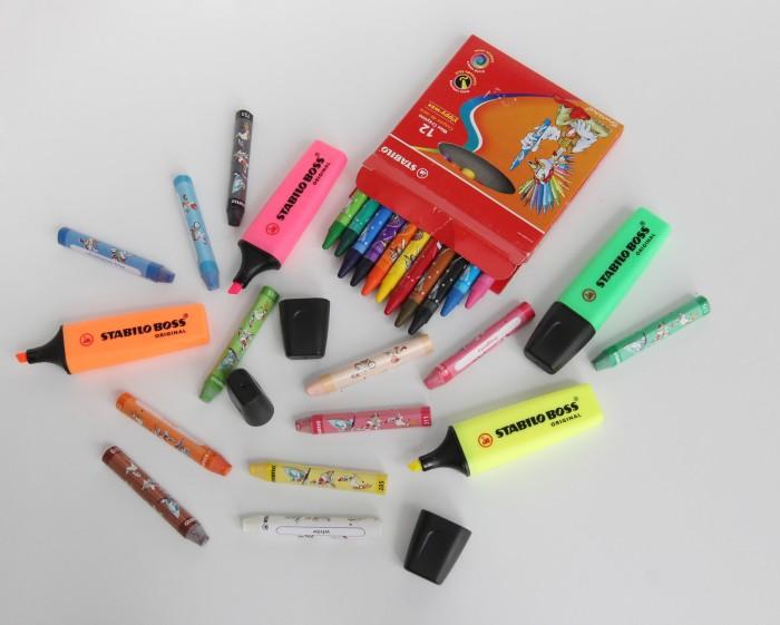harga Paket stabilo mewarnai oil pastel & crayon - multicolor Tokopedia.com