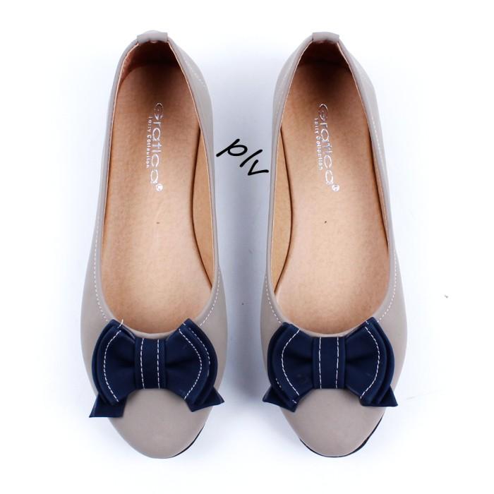 Sepatu Flat Shoes Flatshoes Murah Gratica UD34 Abu Biru .