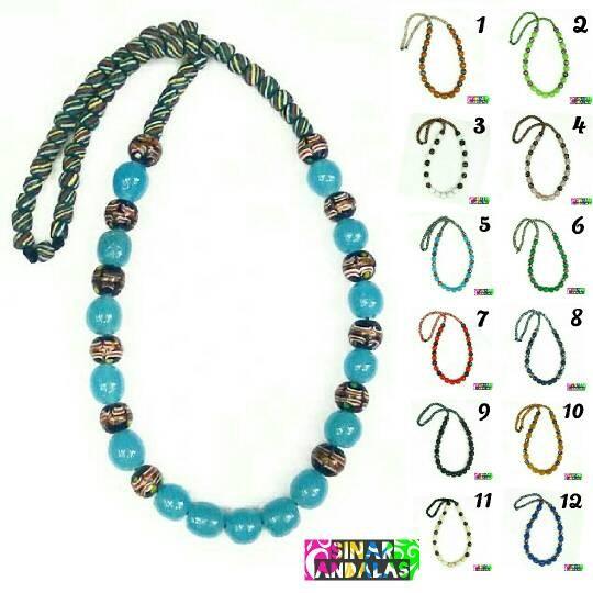 harga Kalung batu dayak airmas manik strip warna kalimantan etnik fashion Tokopedia.com