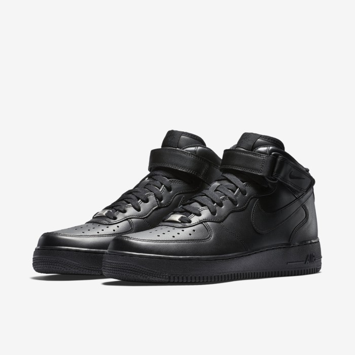 the latest d0915 54f48 NIKE AIR FORCE 1 MID 07 TRIPLE BLACK LEGIT
