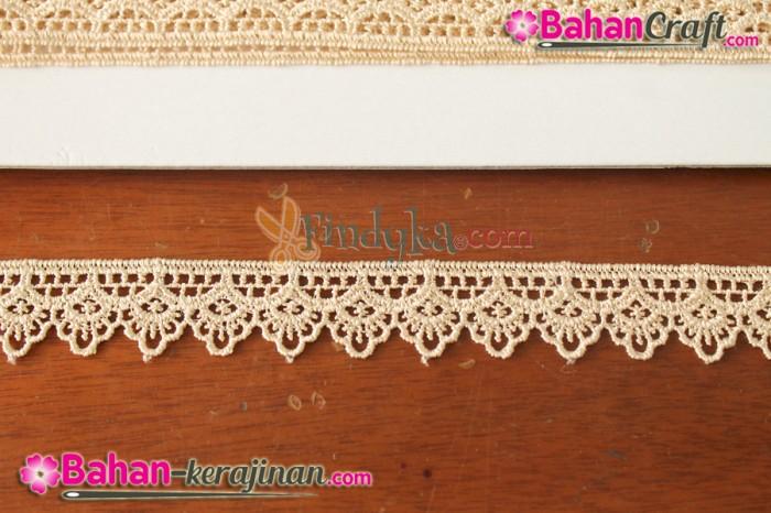 harga Bahan craft / kerajinan : renda gyper hq 02 coklat roll Tokopedia.com
