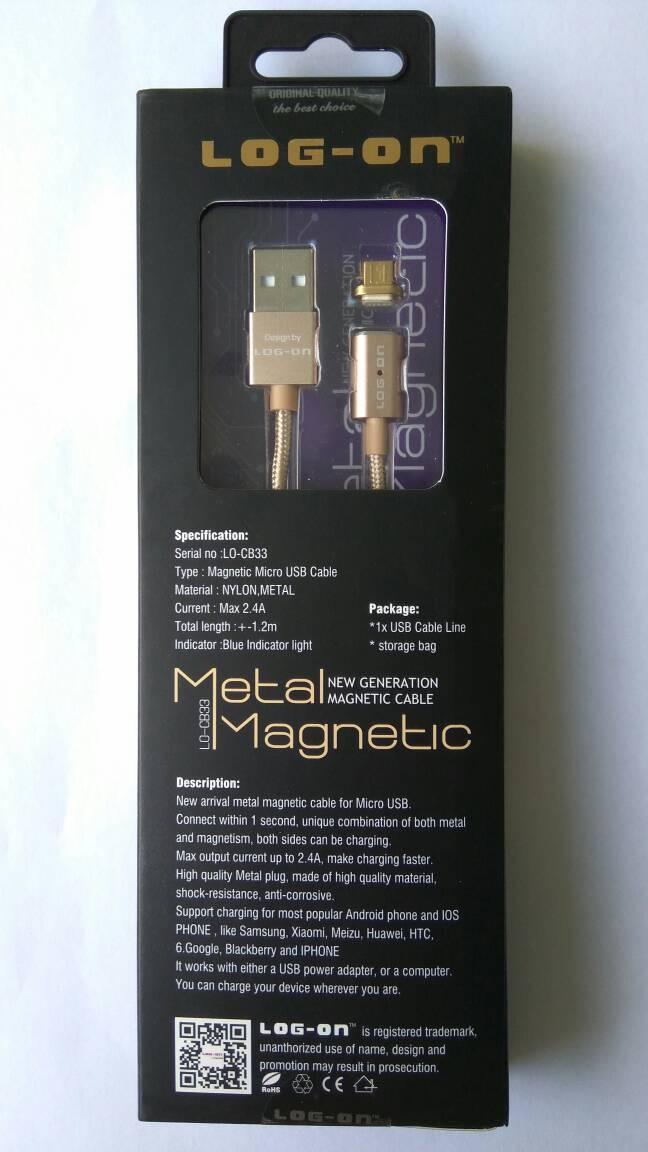 harga Log-on kabel magnetic metal charger micro usb tali sepatu cable logon Tokopedia.com