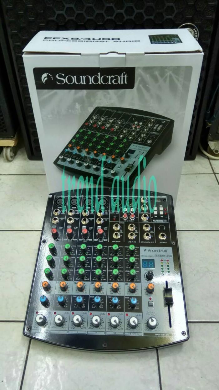 harga Mixer professional soundcraft efx8/4 usb ( hitam) Tokopedia.com