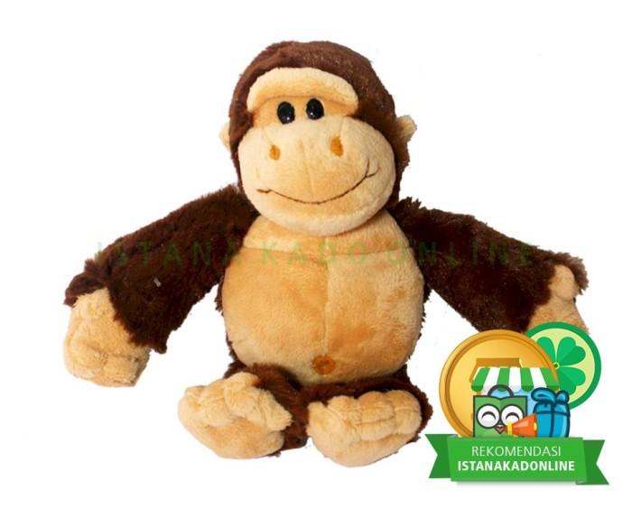 Jual Boneka Binatang Monyet Animal Rico Monkey 9 Cokelat Kab
