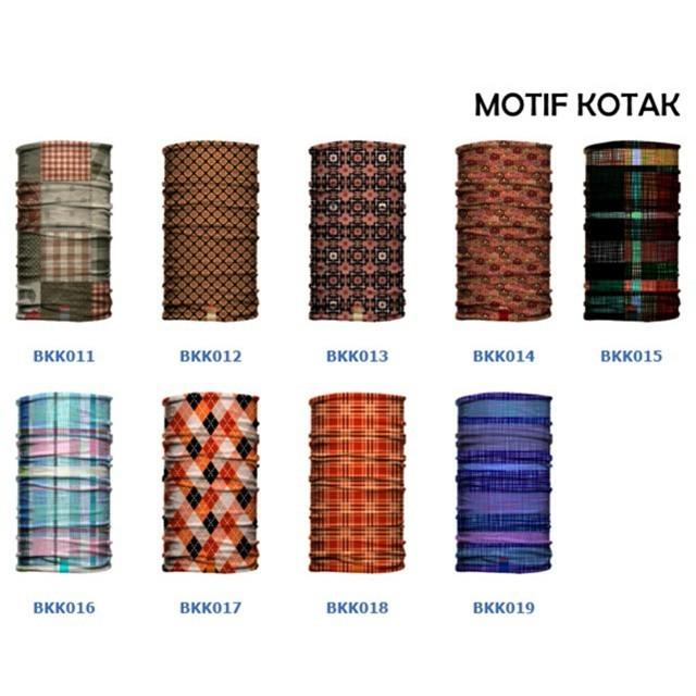 harga Masker baff bandana motif kotak kotak etnik batik kain baf multifungsi Tokopedia.com