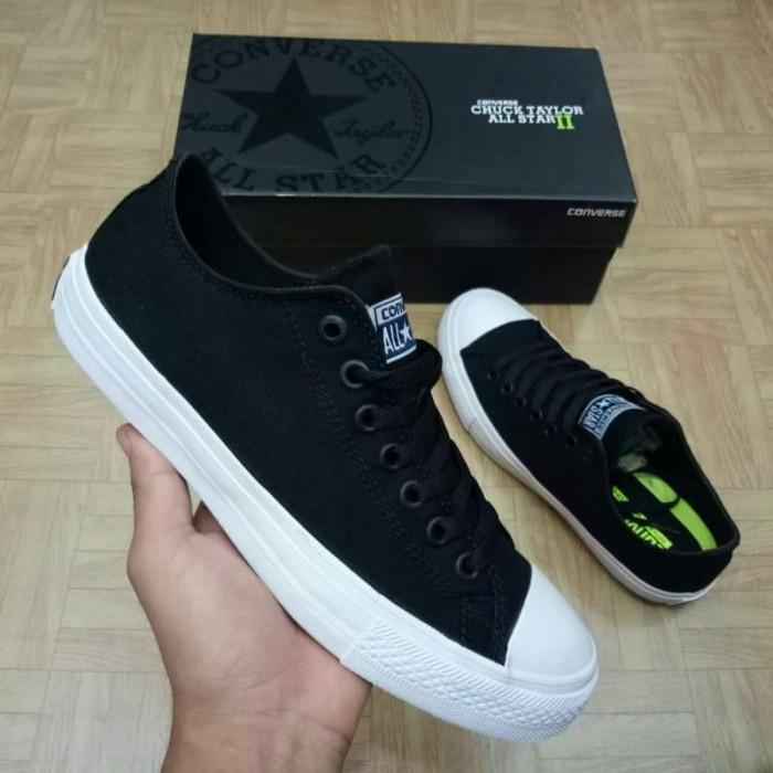 2552c82f72aa Jual sepatu sneaker converse chuck taylor II CT 2 low ox black white ...